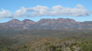 View from the road Wilpena Pound